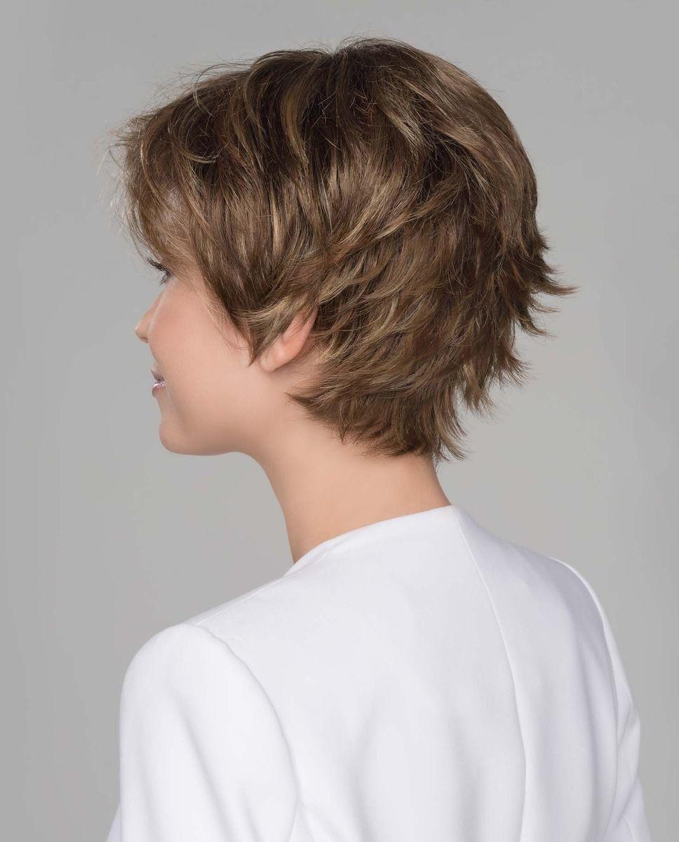 Perruque médicalisée cheveux coupe courte chatain