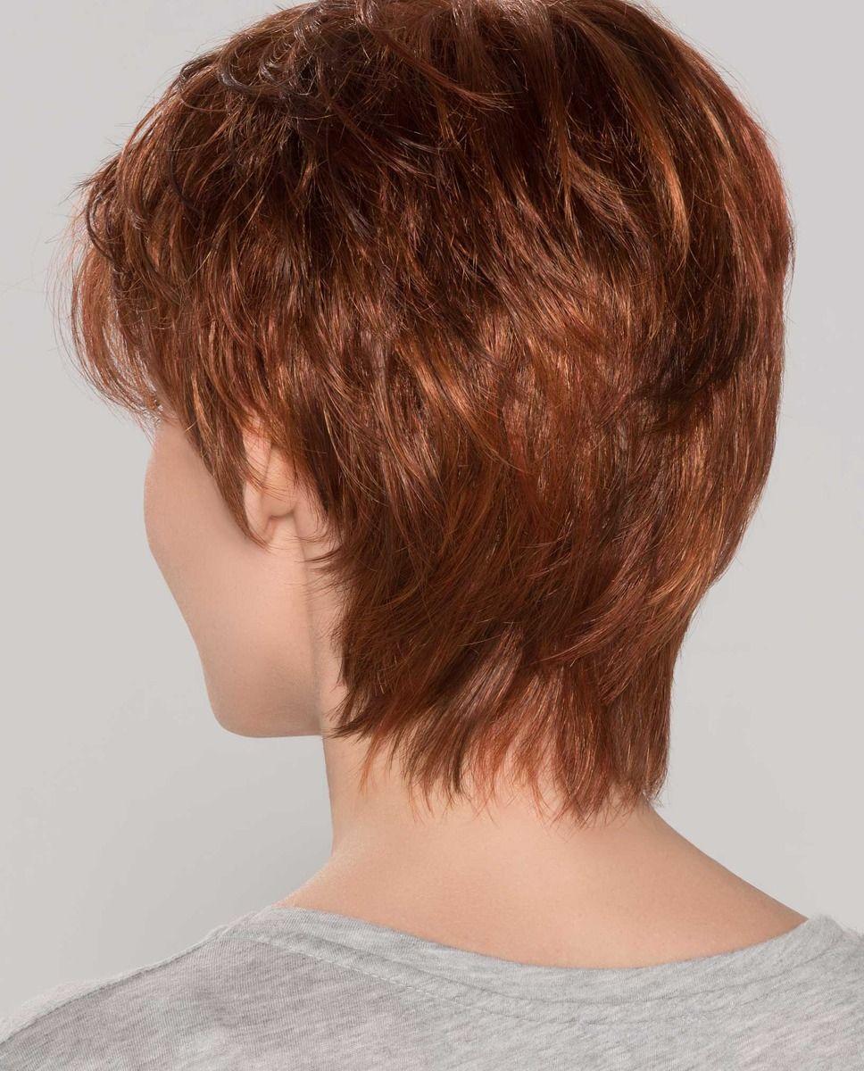 Perruque médicalisée cheveux coupe courte rousse