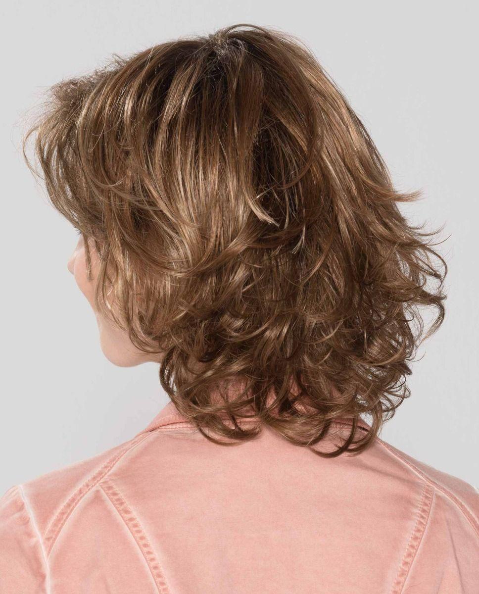 Perruque médicalisée cheveux coupe mi-long ondulée