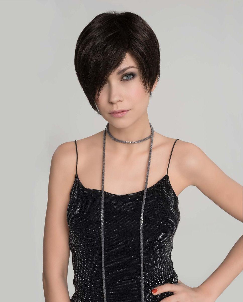 Perruque médicalisée cheveux coupe courte brune